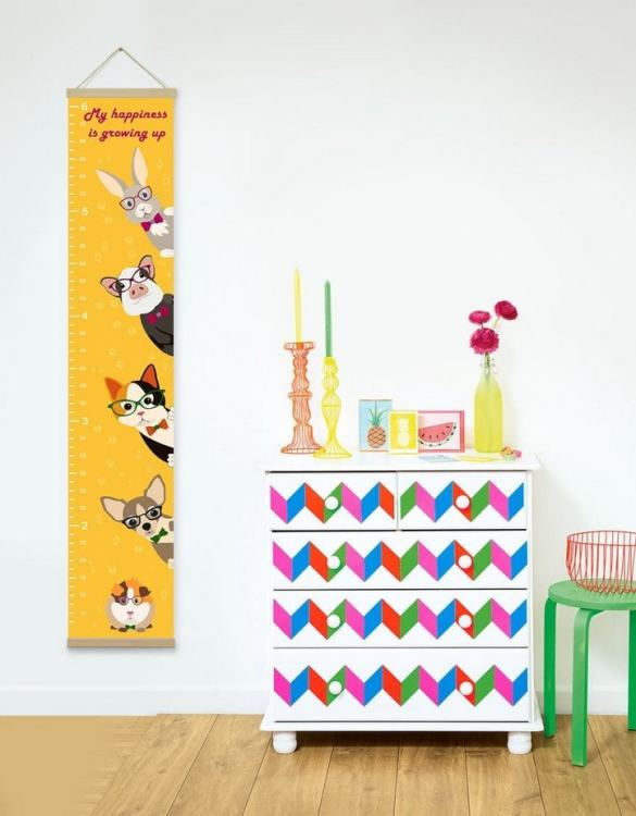 How high are your little creatures? Chart your child's growth development with the Personalised Mustard Cute Pets Child Growth Chart. This personalised growth chart will look perfect in your children's bedroom, nursery or playroom.