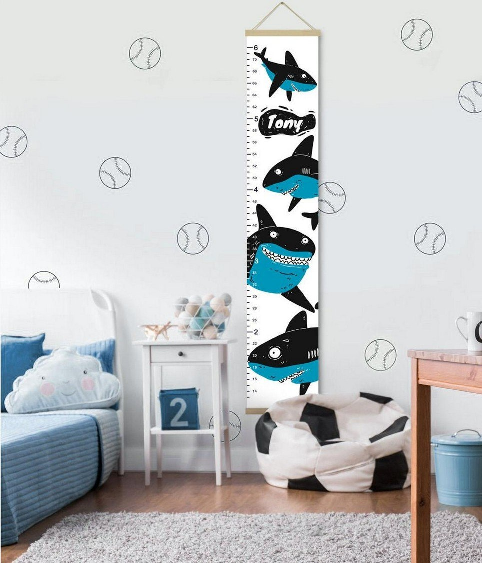 Personalised Shark Child Growth Chart