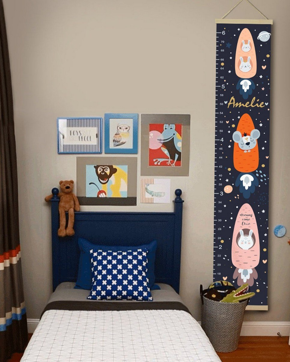 Personalised Space Child Growth Chart