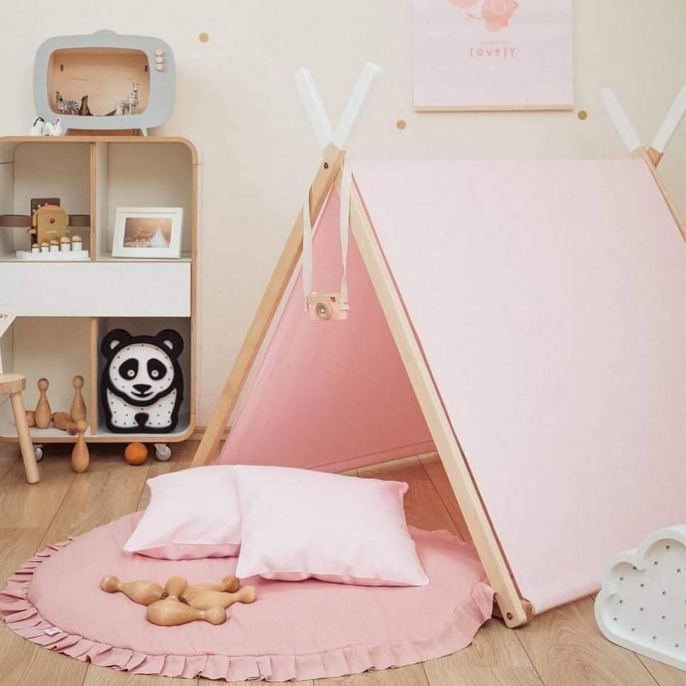 Pink Velvet Baby Play Mat – 6