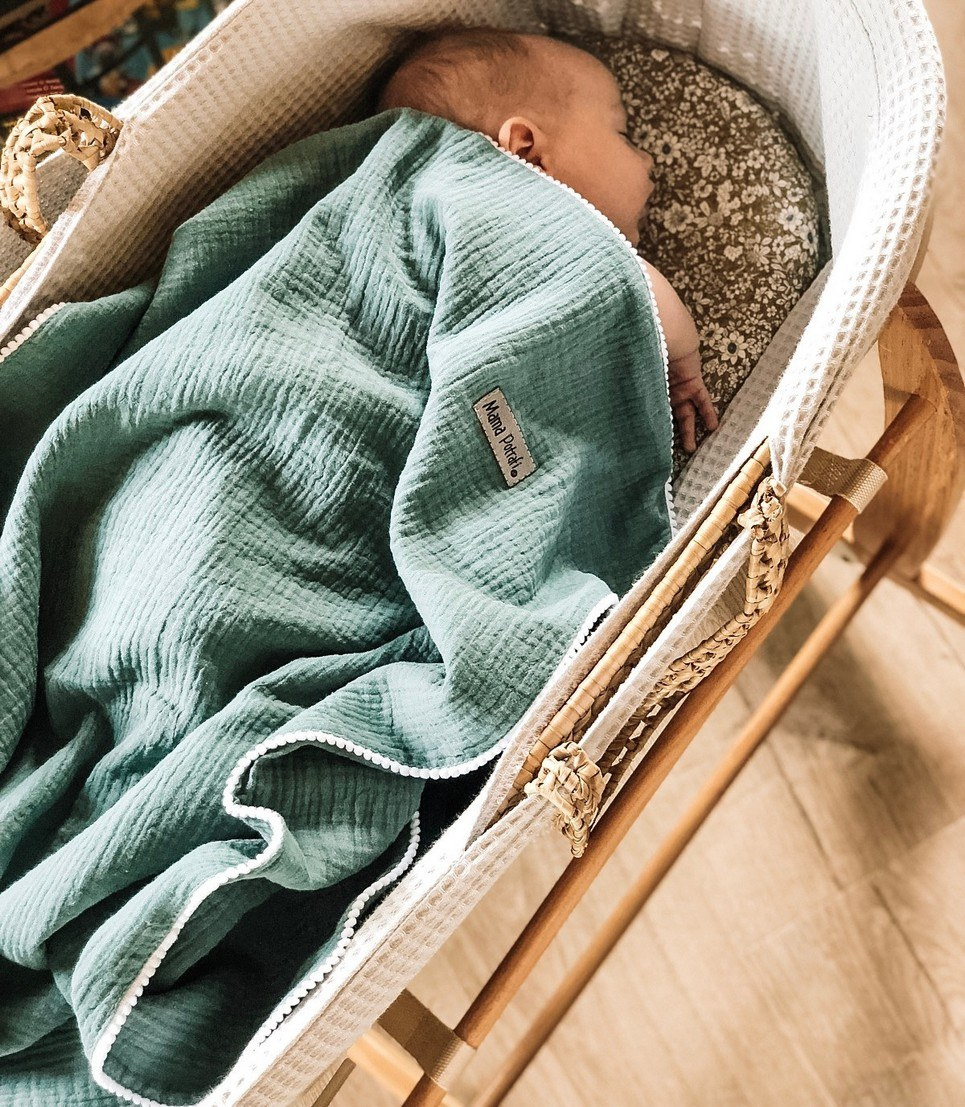Sage Field Baby Muslin Swaddle Blanket – 2 Pack