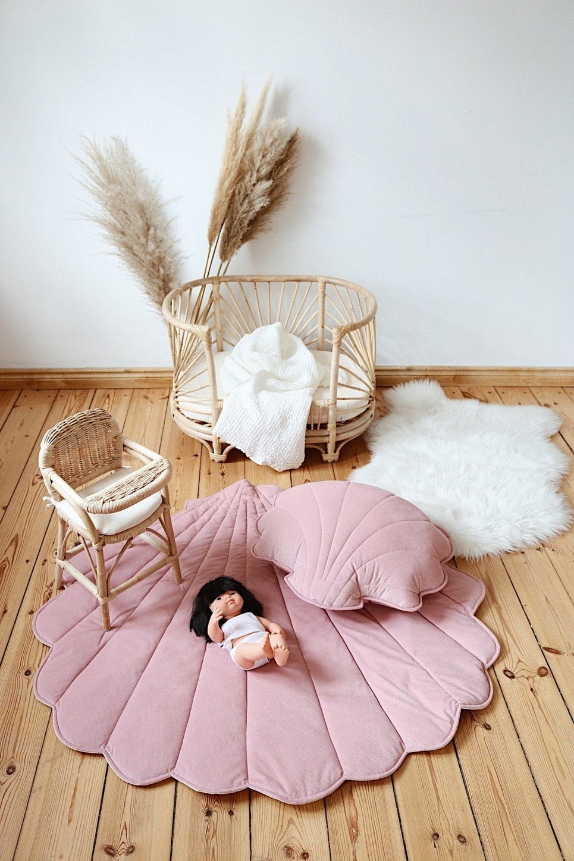 Soft Pink Velvet Shell Mat