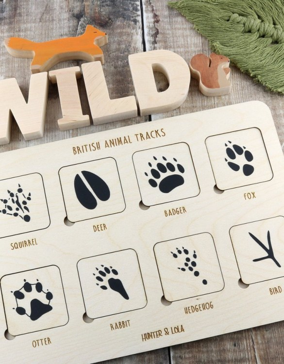 Sure to bring your little one lots of fun the Wooden British Woodland Animal Tracks Puzzle makes a sweet gift for the newest family member to enjoy. A gorgeous keepsake gift that will bring fun and entertainment as they grow.