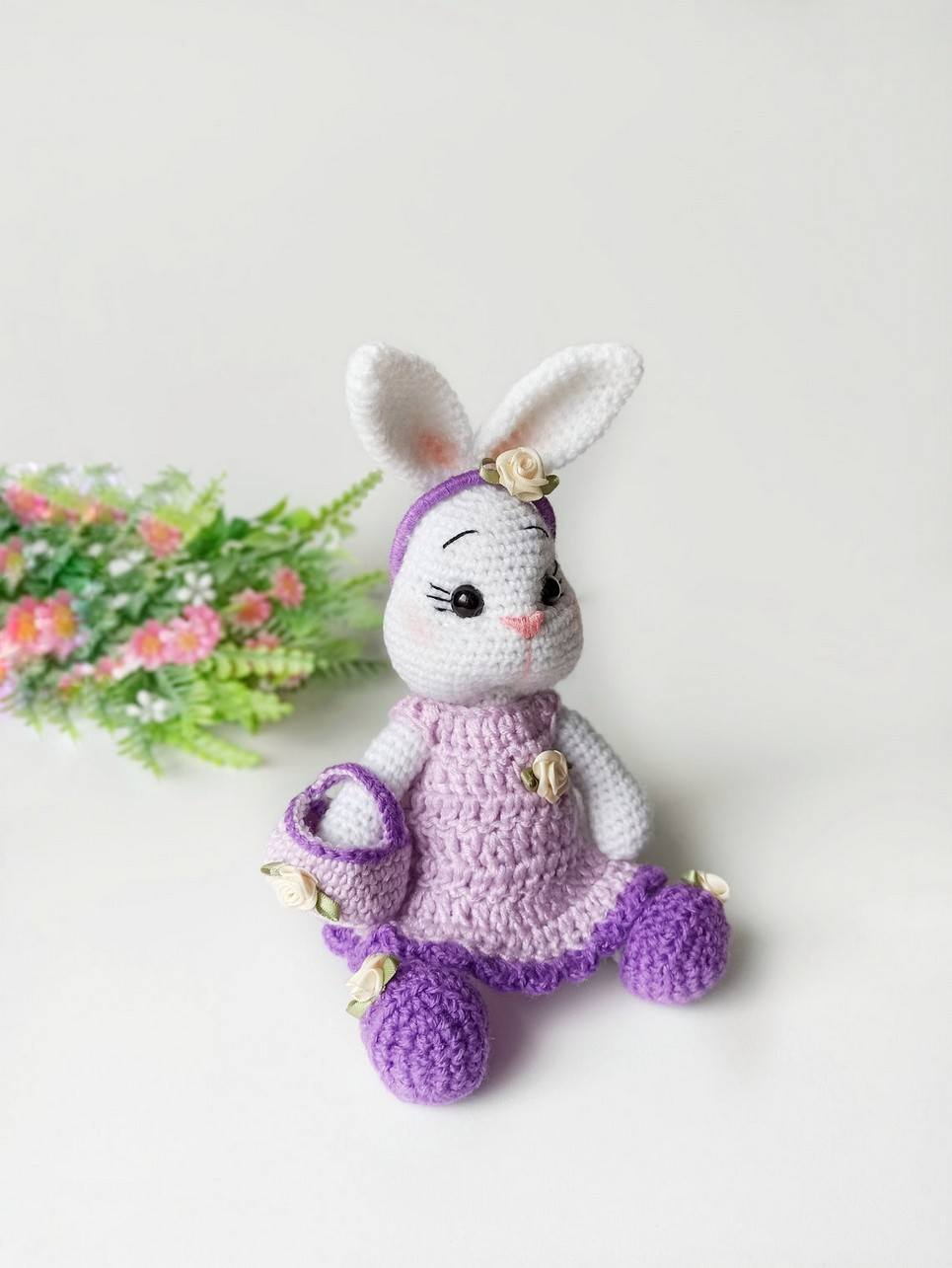 Hand Knitted Bunny Doll Children's Plush Toy