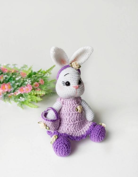 Strong and courageous, the Hand Knitted Bunny Doll Children's Plush Toy will watch over your little one each night and be by their side through every adventure. A friend for life.