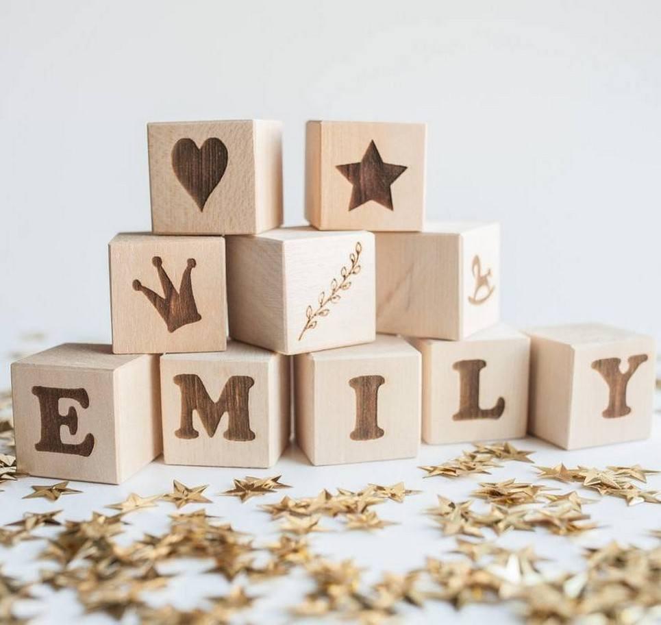 Personalised Name Baby Building Blocks – 9