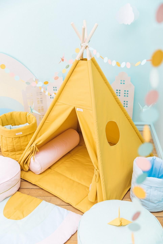 Plain Mustard Children's Teepee Set