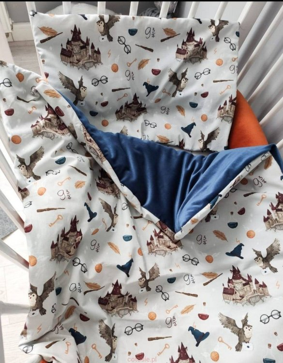 The perfect gift for any parents, the School of Magic Baby Cot Bedding Set would be the perfect addition to any child's bedroom. Made from 100% soft cotton, this baby bedding set will make a lovely addition to welcome a new baby at home!