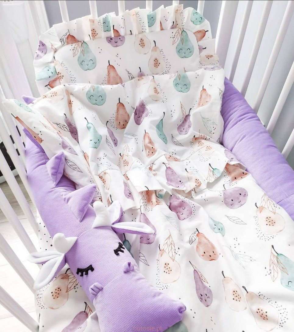 Baby Cot Bedding Set with Frills
