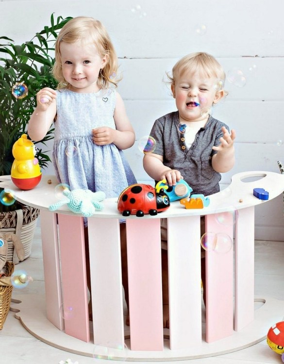 A real educational wooden toy, the Birdie Pink Rocking Toy is perfect for creative and curious toddlers at playtime. This rocking toy could be an ideal starting point for a toddler's healthy development as it offers a lot of excitement and directs children to take joy in movement.