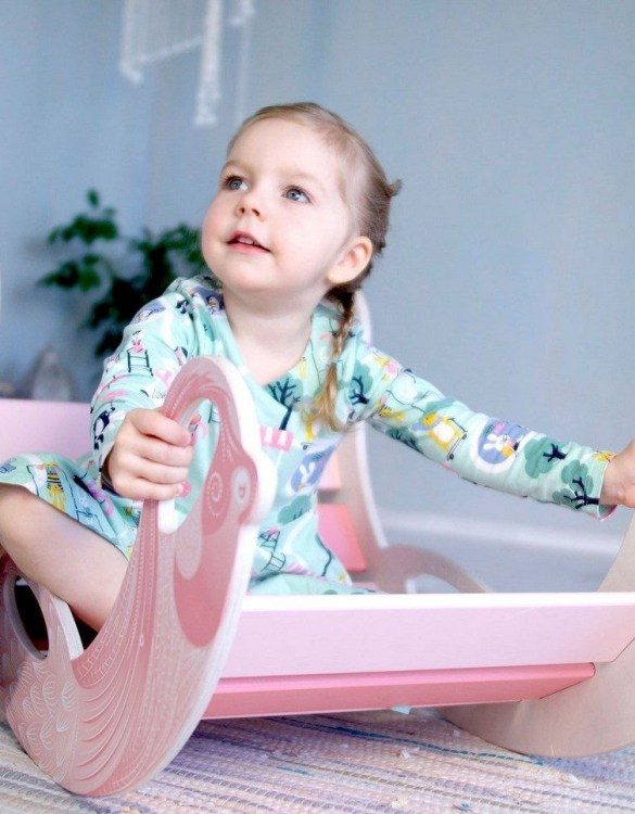 A real educational wooden toy, the Flamingo Rocking Toy is perfect for creative and curious toddlers at playtime. This rocking toy could be an ideal starting point for a toddler's healthy development as it offers a lot of excitement and directs children to take joy in movement.