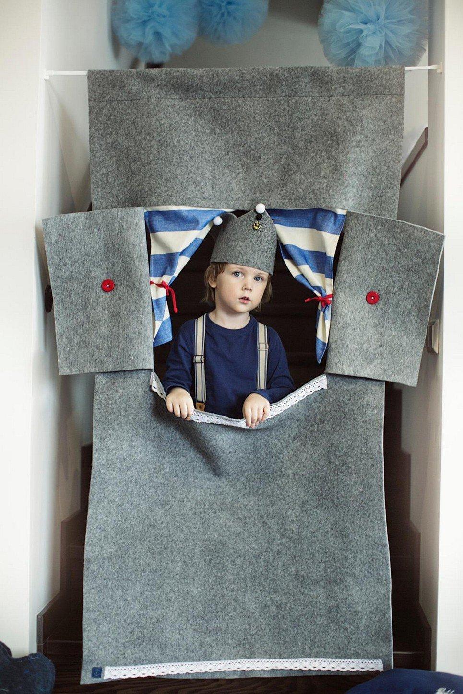 Grey Lighthouse Doorway Puppet Theatre