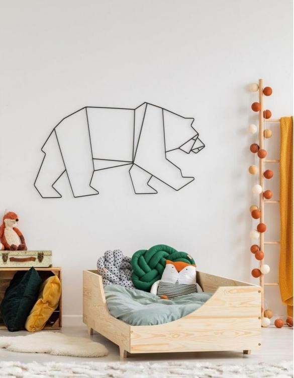 Turn bedtime into a magical adventure with the Montessori Pine Toddler Bed. An amazing Montessori bed for children where they can sleep and play.