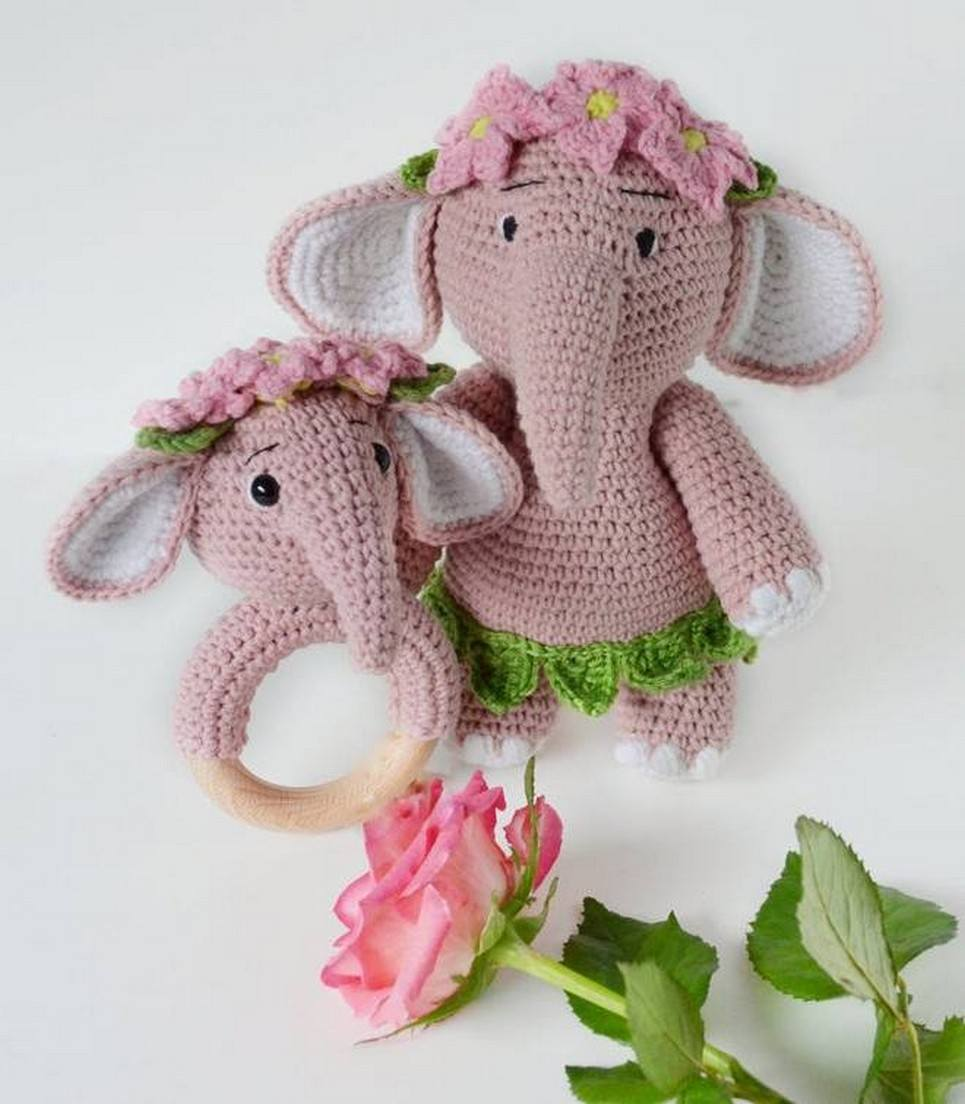 Personalised Pink Elephant Baby Girl Gift Set