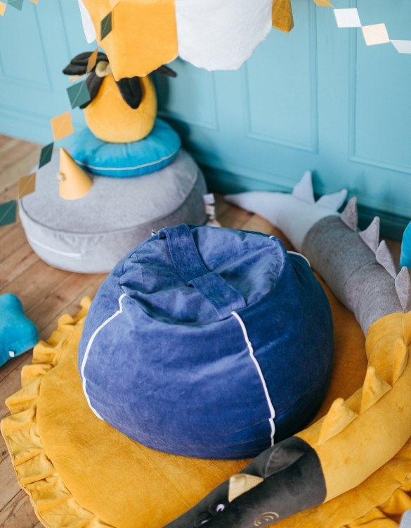 Perfect for creating a little reading corner in a children's bedroom, the Velvet Deep Blue Children's Bubble Beanbag is perfect for lounging. The perfect gift for any toddler or small child, this seating solution is a gorgeous addition to a little one's bedroom or nursery.