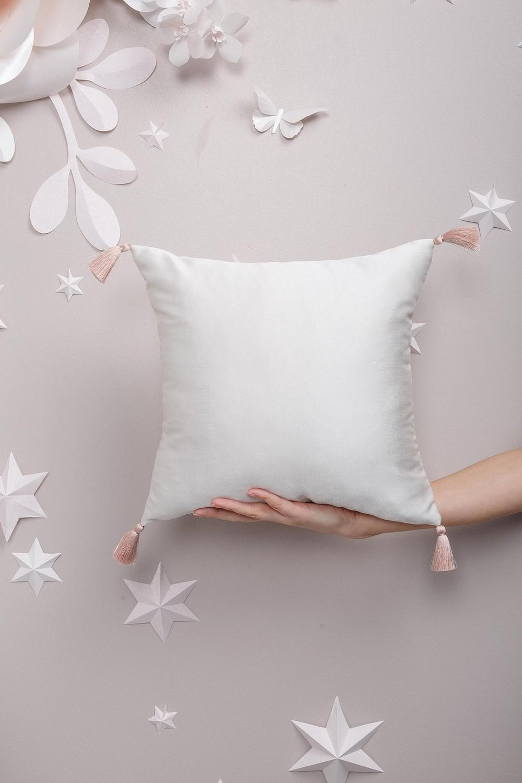 White Creamy Satin Pillow