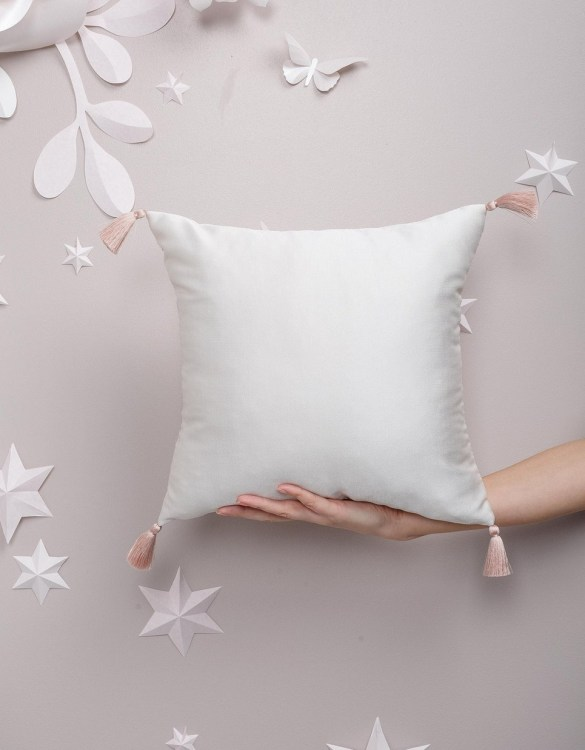 Completely handmade, the White Creamy Satin Pillow is the perfect gift to welcome the new addition. It's the perfect accessory for your sofa or armchair and with a choice of on-trend colours, you're bound to find a shade to suit your home.