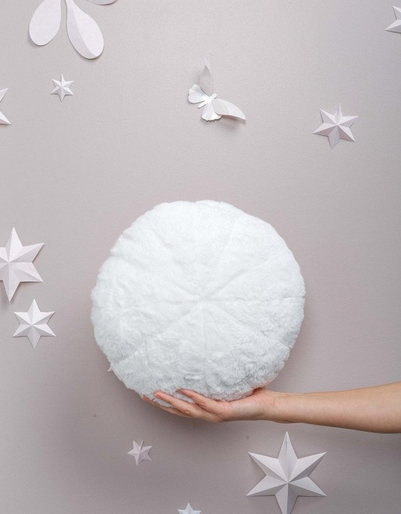 Completely handmade, the White Faux Fur Circle Pillow is the perfect gift to welcome the new addition. It's the perfect accessory for your sofa or armchair and with a choice of on-trend colours, you're bound to find a shade to suit your home.