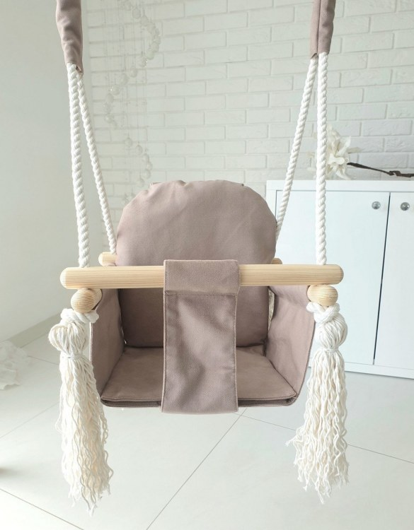 A favorite childhood toy, the Camel Velvet Bunny Wooden Swing was designed with fun, fresh and modern style in mind. Keep your little ones entertained with this super fun swings.