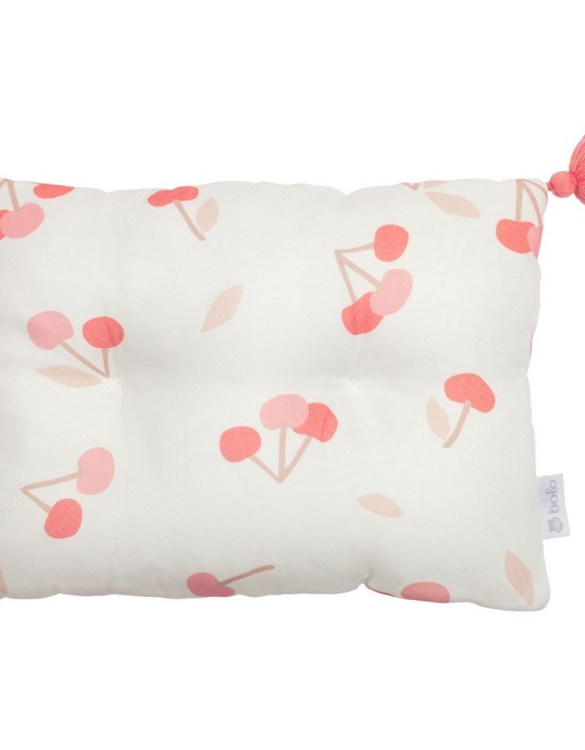 Perfect to suit your nursery theme, the Cherries Bamboo Baby Pillow makes going to bed something special, an ideal way to conjure up sweet dreams. The perfect way to end the day this baby head pillow makes a great addition to any child's room and is a fun way to make sure that it feels special to them.
