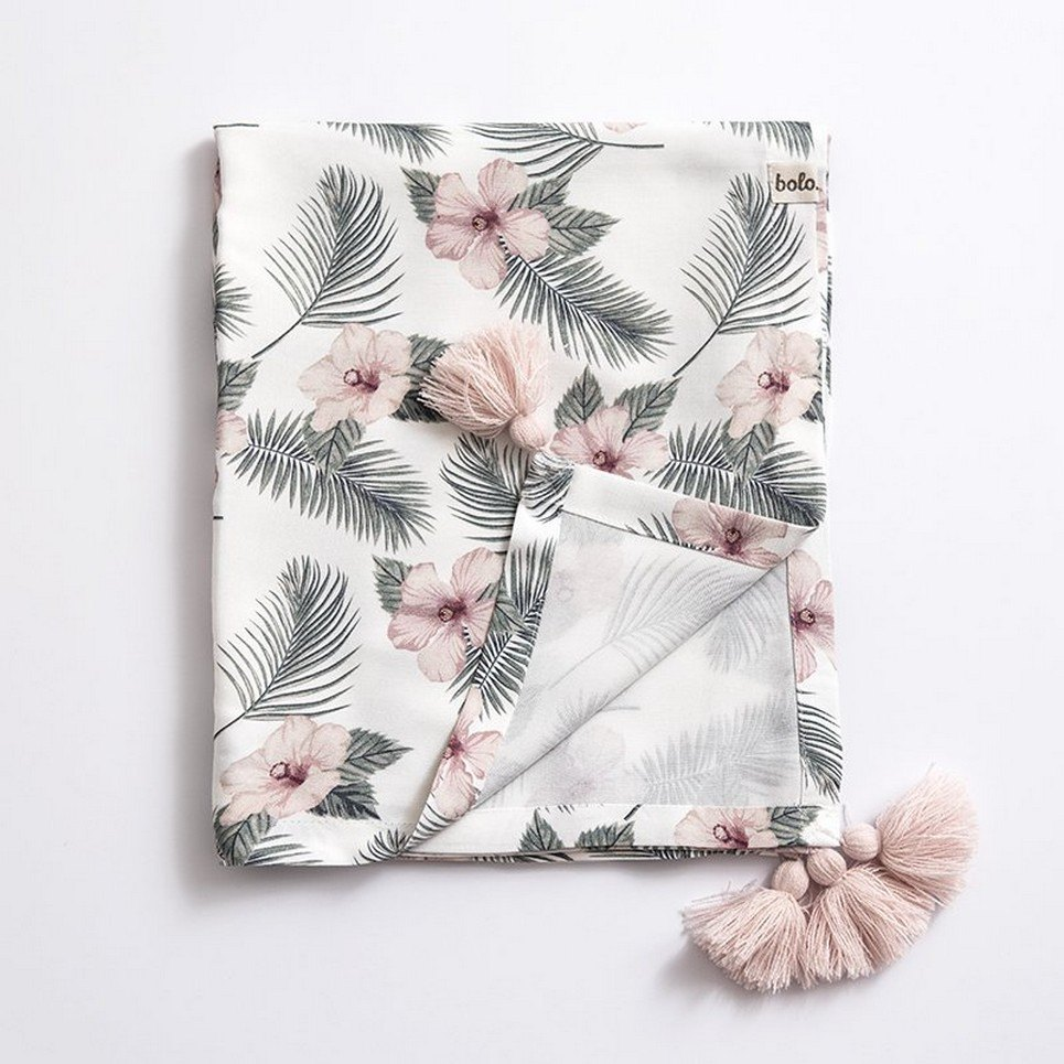 Flowers Bamboo Swaddle Blanket