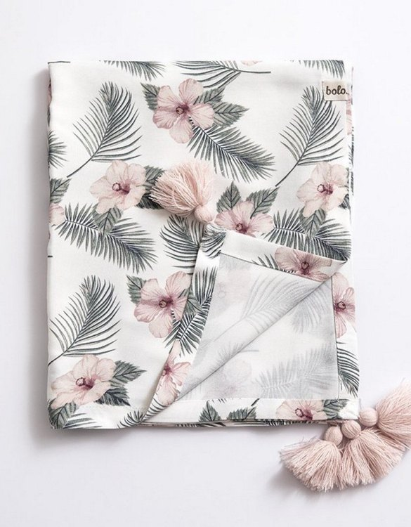 Giving a beautifully soft feel, the Flowers Bamboo Swaddle Blanket is a lovely lightweight swaddle blanket for your little one. A gift that's sure to be spotted from all the rest.