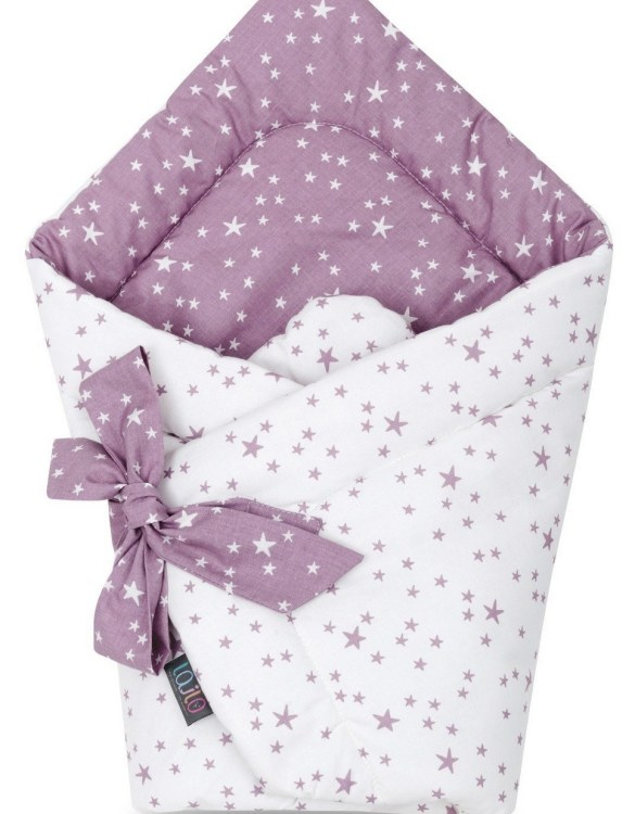 A delightful new-born baby or baby shower present, the Lilac and Purple Stars Swaddle Blanket makes a truly unique gift. Babies love to be cuddled from birth as it reminds them of the womb- an environment they spent a lot of time in while they developed.