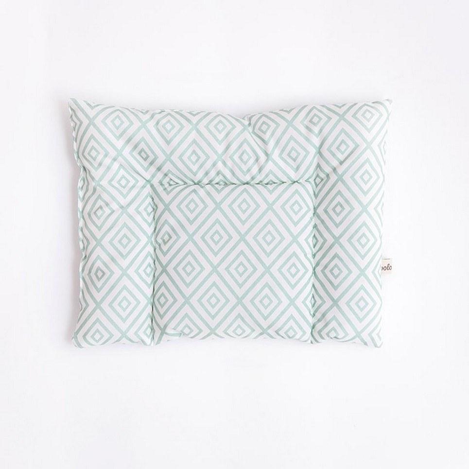 Mint Diamonds Cotton Baby Pillow