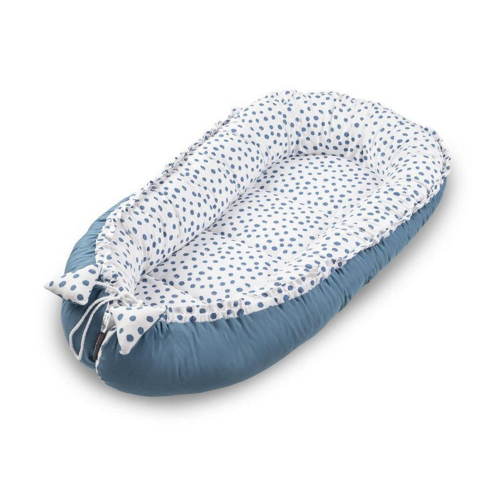 Navy Rounds Baby Nest Cocoon