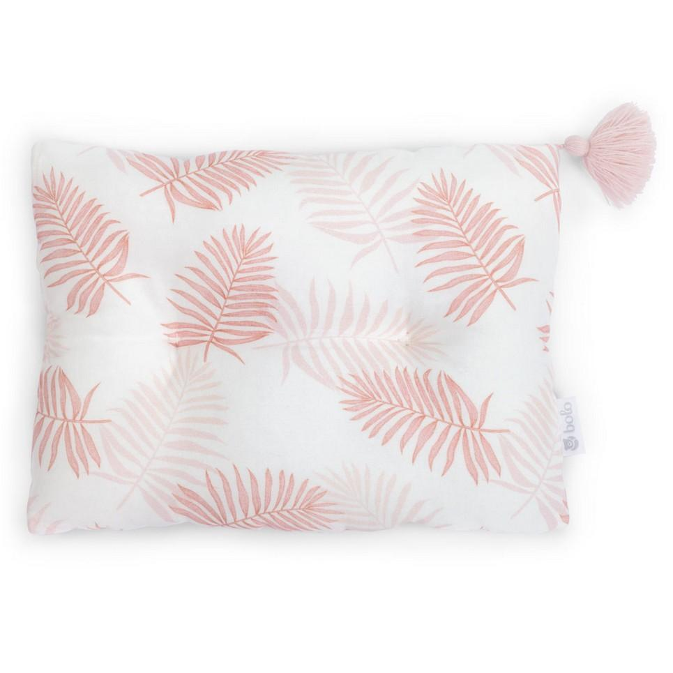 Pink Leaves Bamboo Baby Pillow