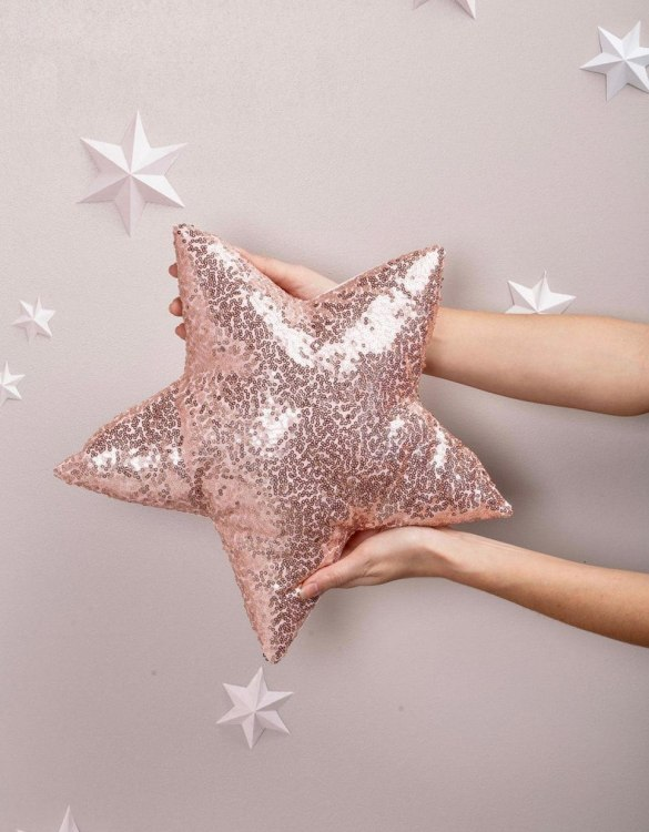 Completely handmade, the Pink Sequins Star Decor Pillow is the perfect gift to welcome the new addition. It's the perfect accessory for your sofa or armchair and with a choice of on-trend colours, you're bound to find a shade to suit your home.