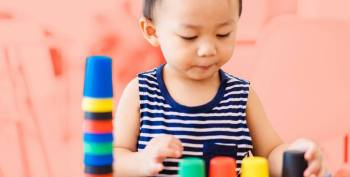Once your baby has developed better eye-hand coordination, she'll love adding building and stacking to her repertoire of fun.