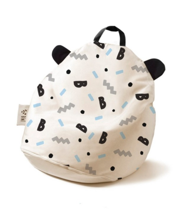 A charming little seat, the Bini B-Boy with Black Handle Kid's Beanbag is an ideal solution to create a custom, stylish space for a children's room, youth room, or even a living room.