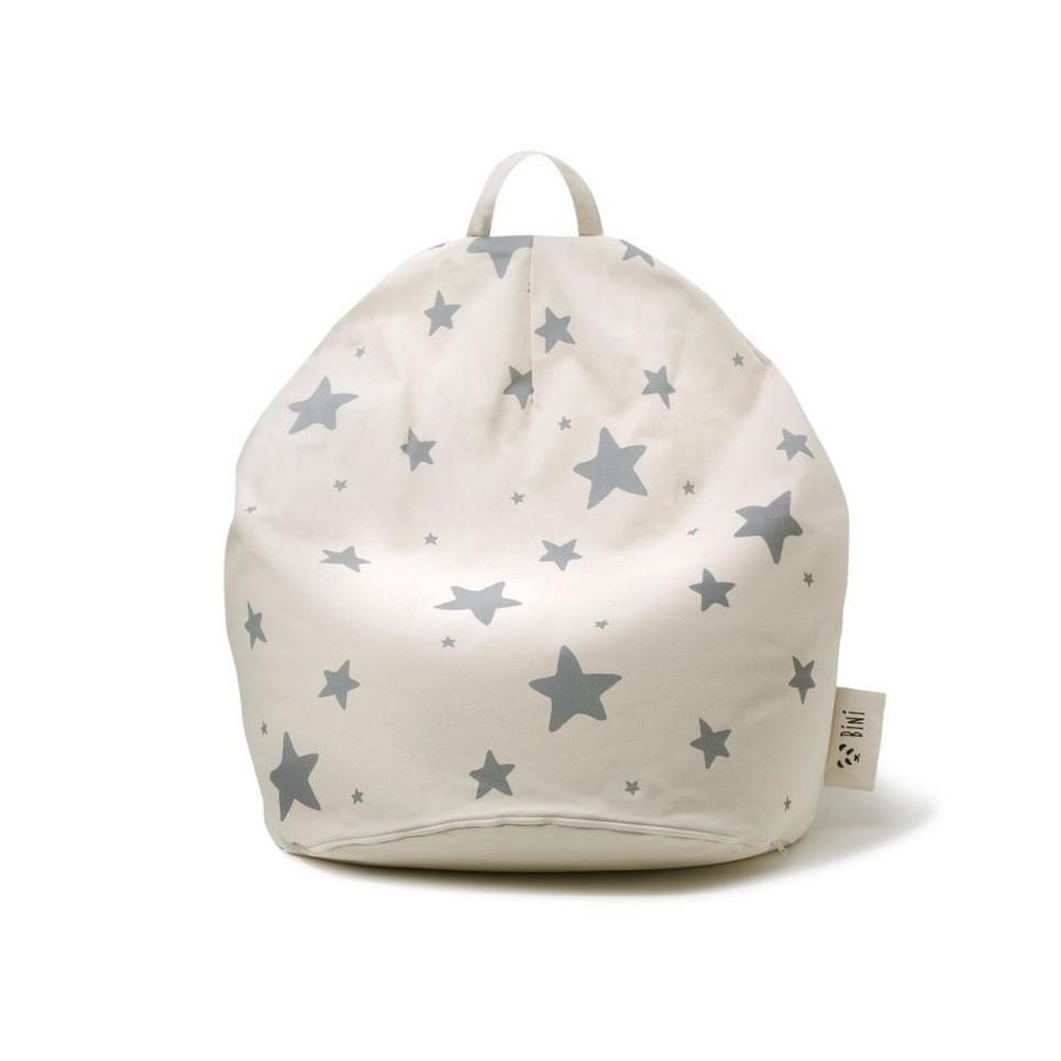 Bini Double Stars Grey Kid's Beanbag