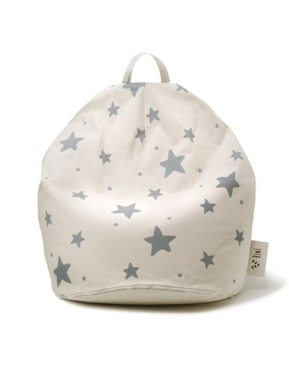 A charming little seat, the Bini Double Stars Grey Kid's Beanbag is an ideal solution to create a custom, stylish space for a children's room, youth room, or even a living room.