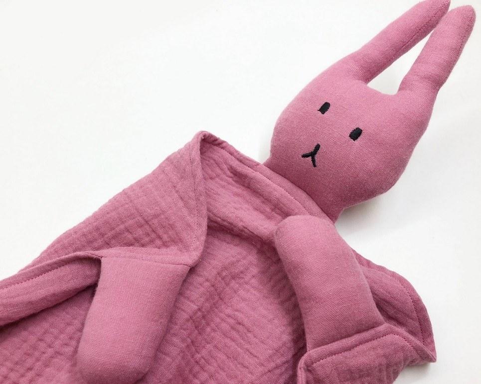 Peter Rabbits Plum Pink Baby Comforter