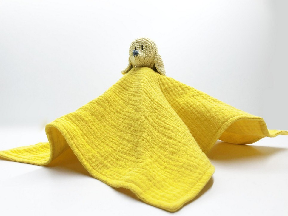 Yellow Mouse Baby Comforter