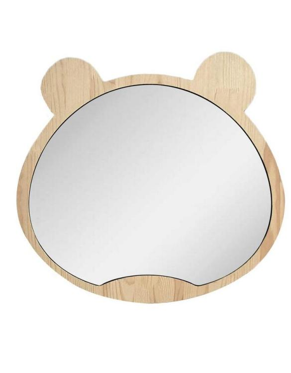 A modern design that will please you and your little one, the Big Solid Pinewood Mirror Bear fits perfectly in the nursery or kids' room. Safe and unbreakable acrylic mirror made of high-quality solid pinewood.