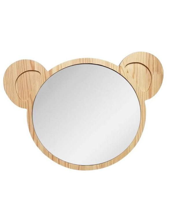 A modern design that will please you and your little one, the Big Solid Pinewood Mirror Koala fits perfectly in the nursery or kids' room. Safe and unbreakable acrylic mirror made of high-quality solid pinewood.