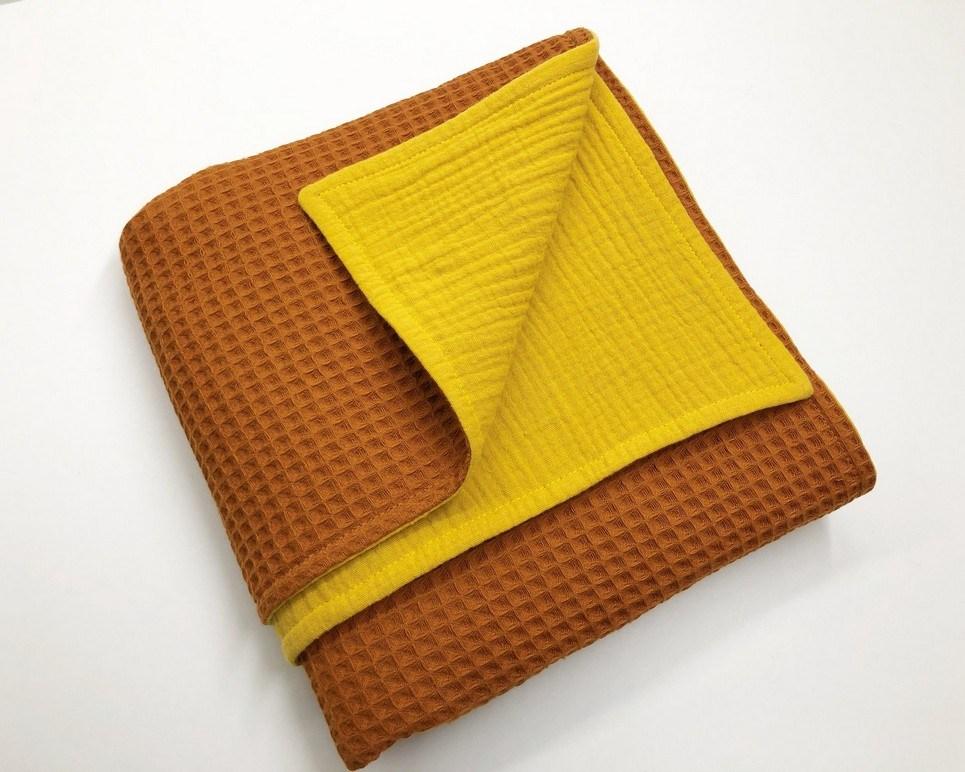 Orange – Ocher Waffle Blanket