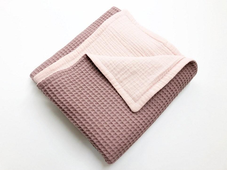 Salmon – Old Pink Waffle Blanket