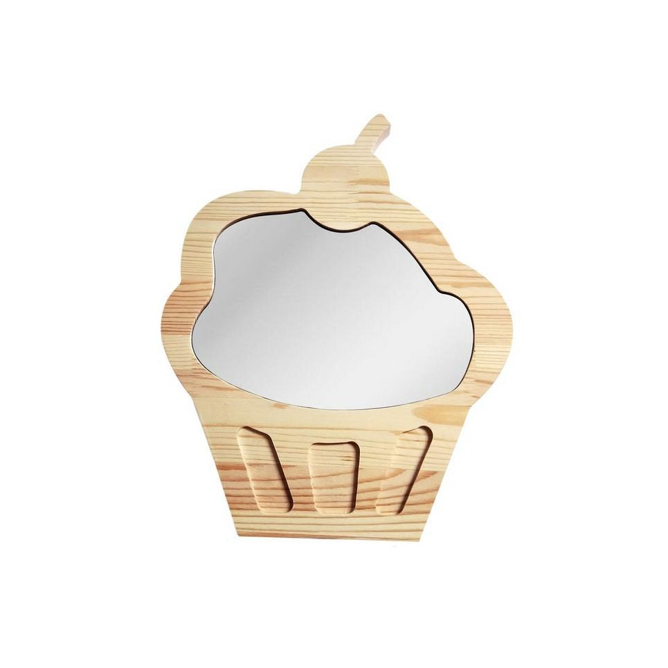 Solid Pinewood Mirror Cupcake
