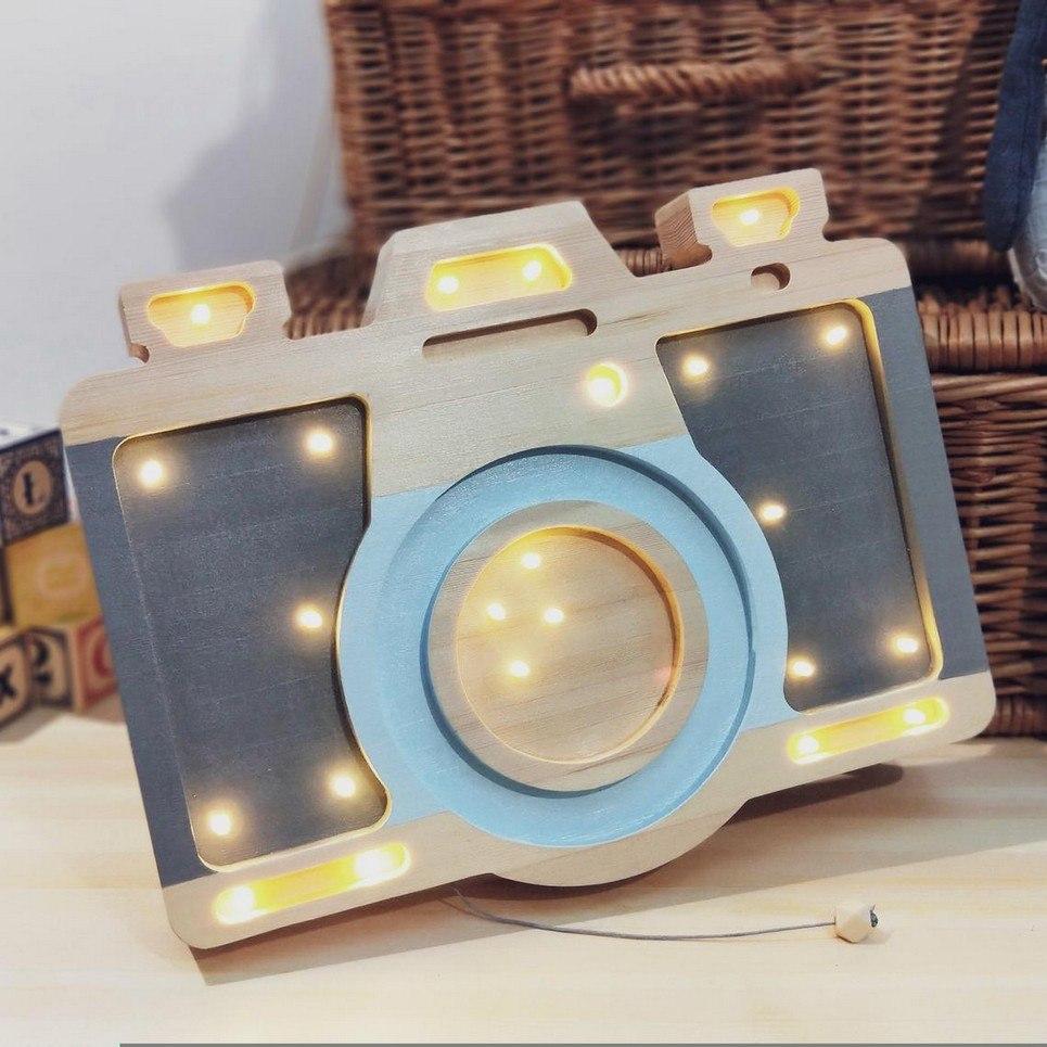 Wooden Camera Lamp
