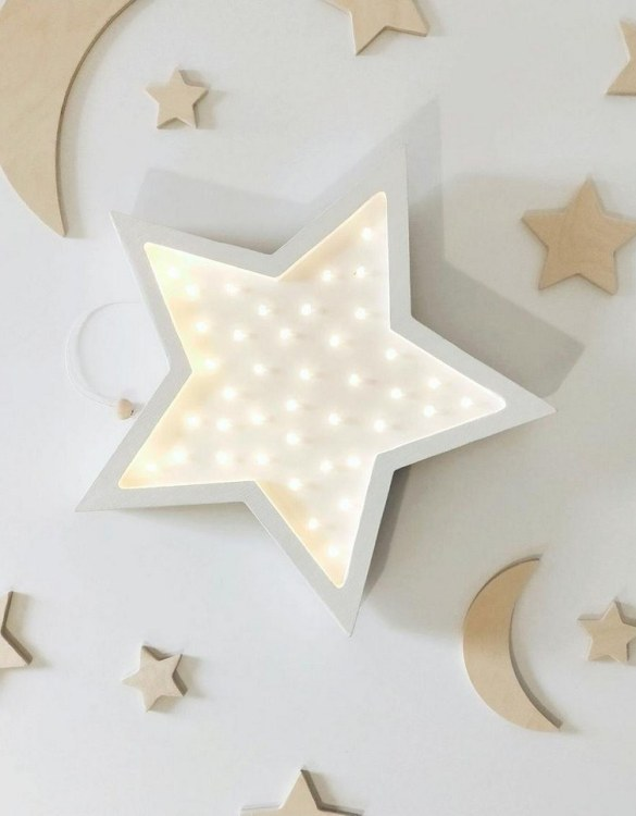 Creating a special and warming atmosphere in your bedroom, the Wooden Star Lamp is ideal for a night light or as a gift. A star for small and big stars. Ideally suited as a decoration in any room of our homes. Available in various color variants.