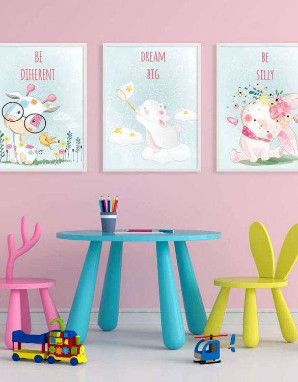 Perfect for a birthday or Christmas present, the Be Anything Decorative Children Illustration Set is a really unique and eyecatching print that is loved by kids and adults. This print would make an ideal new baby gift or a very sweet birthday present for a baby or toddler.
