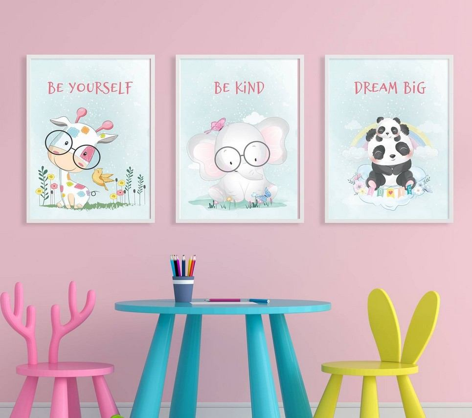 Be Yourself Decorative Children Illustration Set