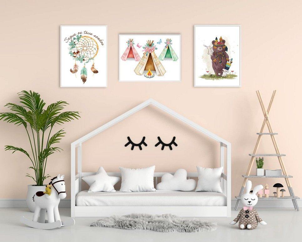 Boho Decorative Children Illustration Set