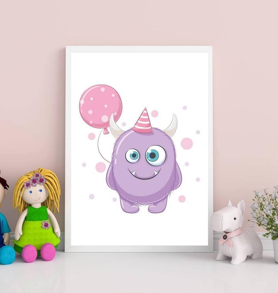 Cute Monster Decorative Children Illustration