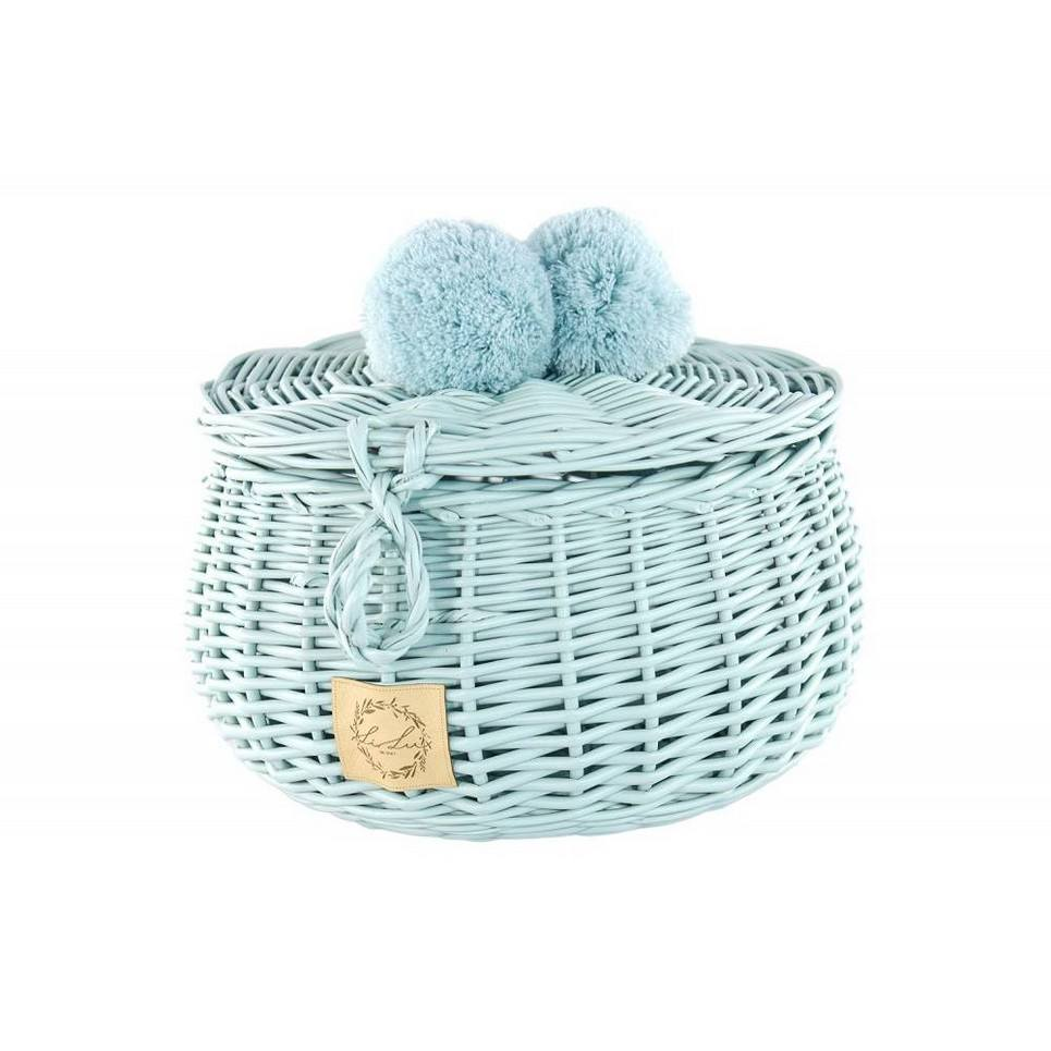 Dirty Mint Big Wicker Casket