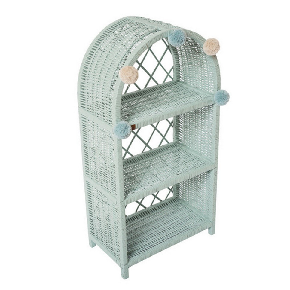 Dirty Mint Maalum Wicker Bookshelf